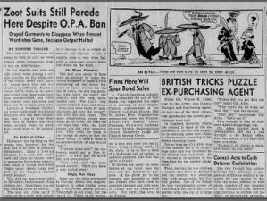 Opinion piece about zoot suits published in the LA Times a few months before Zoot Suit Riots