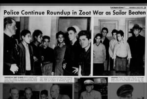 Images of youths arrested during Zoot Suit Riots in Los Angeles