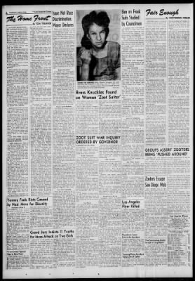 The Los Angeles Times from Los Angeles, California on June 10, 1943 · 2