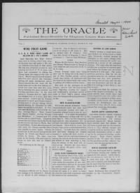 Sample Oracle front page