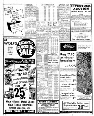 The Mason City Globe-Gazette from Mason City, Iowa on August 13, 1952 · Page 24