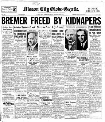 The Mason City Globe-Gazette from Mason City, Iowa on February 8, 1934 · Page 1