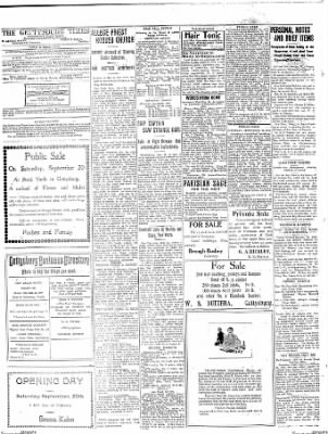 The Gettysburg Times from Gettysburg, Pennsylvania on September 18, 1913 · Page 4