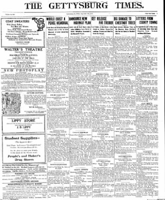 The Gettysburg Times from Gettysburg, Pennsylvania on September 26, 1913 · Page 1