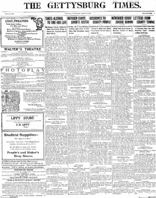 The Gettysburg Times from Gettysburg, Pennsylvania on October 1, 1913 · Page 1