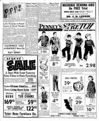 Globe-Gazette from Mason City, Iowa on August 20, 1952 · Page 8