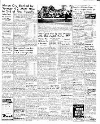 The Mason City Globe-Gazette from Mason City, Iowa on August 25, 1952 · Page 9