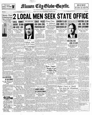 The Mason City Globe-Gazette from Mason City, Iowa on March 7, 1934 · Page 1