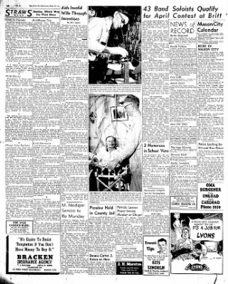Globe-Gazette from Mason City, Iowa on February 27, 1954 · Page 16