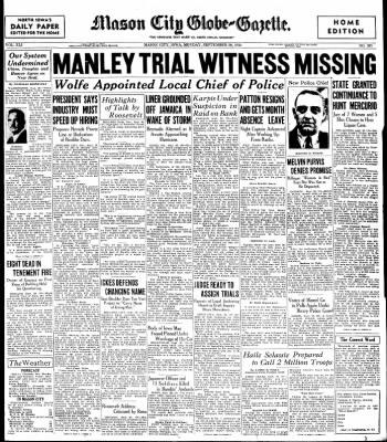 The Mason City Globe-Gazette from Mason City, Iowa on September 30, 1935 · Page 1