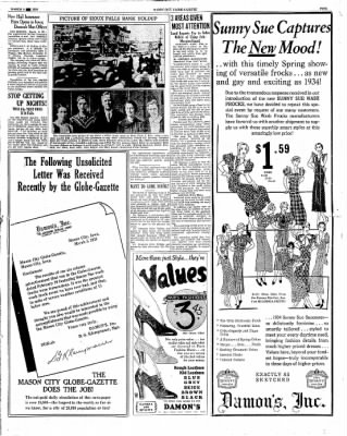 The Mason City Globe-Gazette from Mason City, Iowa on March 8, 1934 · Page 5
