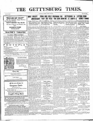 The Gettysburg Times from Gettysburg, Pennsylvania on October 27, 1913 · Page 1
