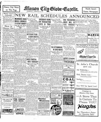 The Mason City Globe-Gazette from Mason City, Iowa on February 18, 1931 · Page 9