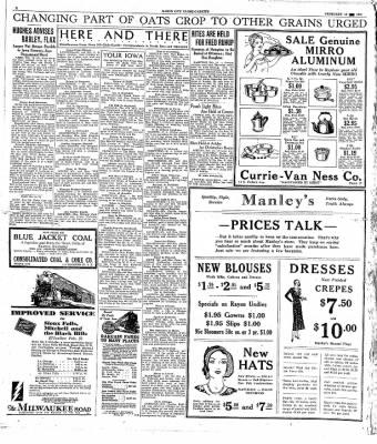 The Mason City Globe-Gazette from Mason City, Iowa on February 19, 1931 · Page 4