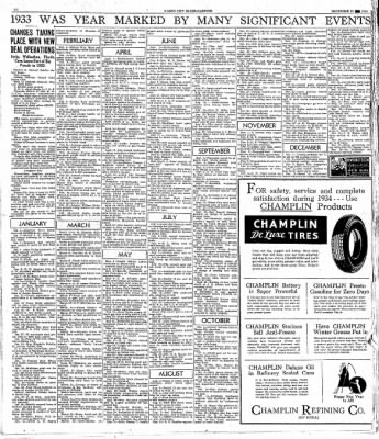 Globe-Gazette from Mason City, Iowa on December 30, 1933 · Page 16