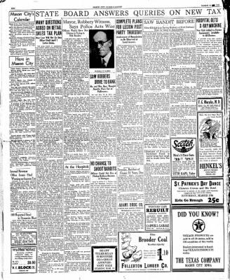 The Mason City Globe-Gazette from Mason City, Iowa on March 14, 1934 · Page 10