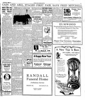 The Mason City Globe-Gazette from Mason City, Iowa on December 30, 1933 · Page 19