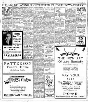 Globe-Gazette from Mason City, Iowa on December 30, 1933 · Page 20