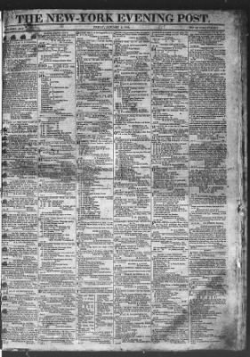 The Evening Post from New York, New York on January 2, 1818 · Page 1