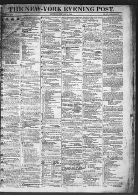 The Evening Post from New York, New York on January 3, 1818 · Page 1