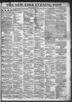 The Evening Post from New York, New York on January 9, 1818 · Page 1