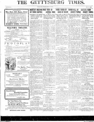 The Gettysburg Times from Gettysburg, Pennsylvania on December 3, 1913 · Page 1