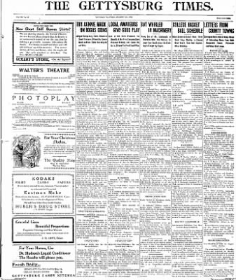 The Gettysburg Times from Gettysburg, Pennsylvania on December 5, 1913 · Page 1