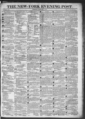 The Evening Post from New York, New York on February 5, 1818 · Page 1