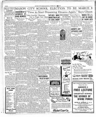The Mason City Globe-Gazette from Mason City, Iowa on February 16, 1937 · Page 4