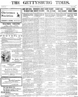 The Gettysburg Times from Gettysburg, Pennsylvania on December 15, 1913 · Page 1