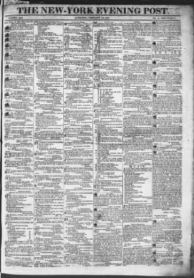 The Evening Post from New York, New York on February 28, 1818 · Page 1