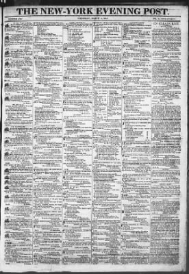 The Evening Post from New York, New York on March 5, 1818 · Page 1