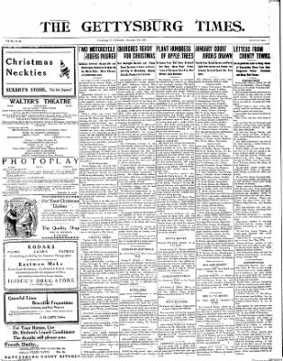 The Gettysburg Times from Gettysburg, Pennsylvania on December 17, 1913 · Page 1