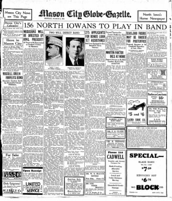 Globe-Gazette from Mason City, Iowa on March 9, 1931 · Page 11