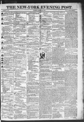 The Evening Post from New York, New York on March 10, 1818 · Page 1