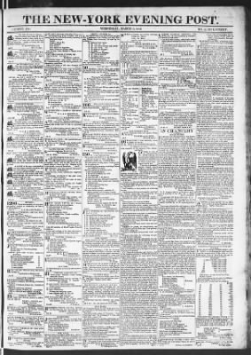 The Evening Post from New York, New York on March 11, 1818 · Page 1
