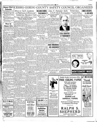 Globe-Gazette from Mason City, Iowa on March 26, 1936 · Page 15