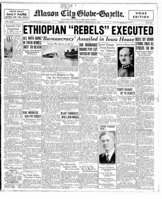 The Mason City Globe-Gazette from Mason City, Iowa on February 23, 1937 · Page 1