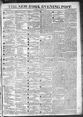 The Evening Post from New York, New York on March 21, 1818 · Page 1