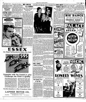 Globe-Gazette from Mason City, Iowa on March 11, 1931 · Page 12