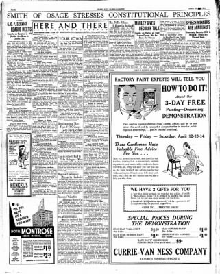 Globe-Gazette from Mason City, Iowa on April 11, 1934 · Page 4