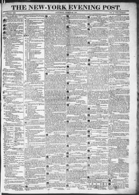 The Evening Post from New York, New York on March 28, 1818 · Page 1