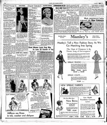 Globe-Gazette from Mason City, Iowa on March 12, 1931 · Page 10