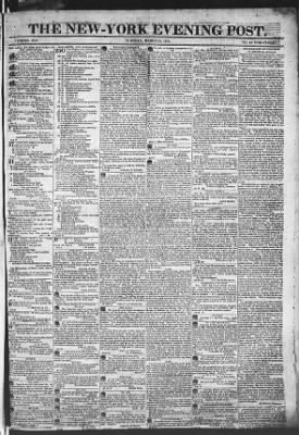 The Evening Post from New York, New York on March 31, 1818 · Page 1
