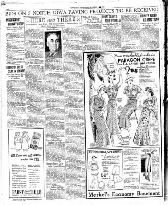 Globe-Gazette from Mason City, Iowa on April 3, 1936 · Page 10