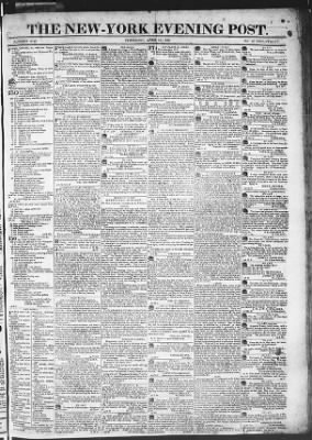 The Evening Post from New York, New York on April 16, 1818 · Page 1