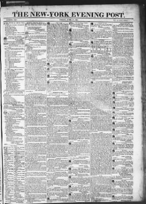 The Evening Post from New York, New York on April 17, 1818 · Page 1
