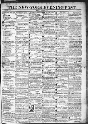 The Evening Post from New York, New York on April 20, 1818 · Page 1