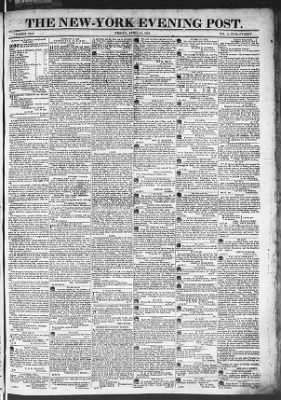 The Evening Post from New York, New York on April 24, 1818 · Page 1