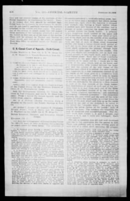 Official Gazette of the United States Patent Office from Washington, District of Columbia on February 19, 1924 · Page 6